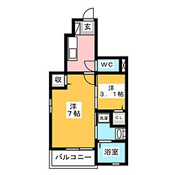ゴールドリング池田 II[1階]の間取り