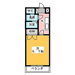 シャルムK[1階]の間取り