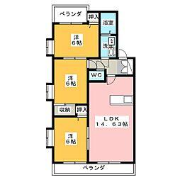 グランドメゾン菊坂[2階]の間取り