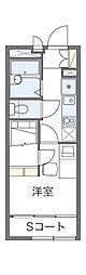 西武多摩湖線 国分寺駅 徒歩6分の賃貸アパート 2階1Kの間取り