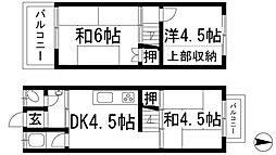 [テラスハウス] 大阪府箕面市半町4丁目 の賃貸【/】の間取り