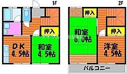 橋本コーポ[1階]の間取り