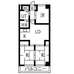 ファミリーハイツ柴田[2階]の間取り