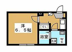 小田急小田原線 町田駅 徒歩8分の賃貸アパート 1階1Kの間取り
