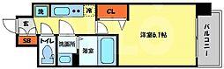 プレサンス南堀江 7階1Kの間取り