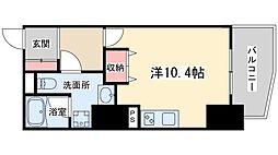 Osaka Metro谷町線 東梅田駅 徒歩9分の賃貸マンション 11階ワンルームの間取り