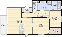 セクレール北本町A棟[1階]の間取り