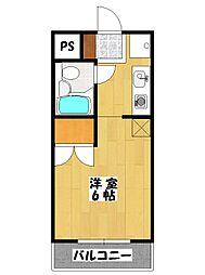 イセハンアパートメント[203号室]の間取り
