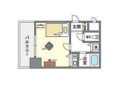 家具・家電付き朝日プラザ博多8[4階]の間取り