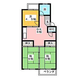 杉本ビル[1階]の間取り