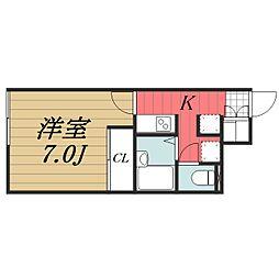 JR成田線 成田駅 バス8分  日吉台車庫下車 徒歩1分の賃貸アパート 1階1Kの間取り