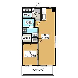 下中野S−1ビル[3階]の間取り