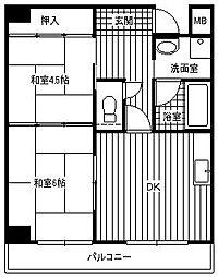 大阪府堺市堺区北丸保園の賃貸マンションの間取り