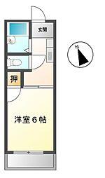 愛知県豊明市二村台7丁目の賃貸アパートの間取り