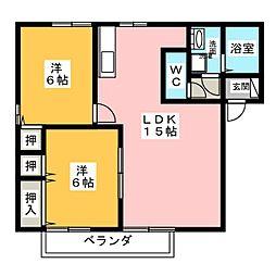 サニーヒル[1階]の間取り