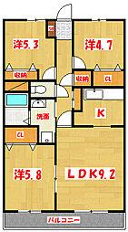 ランドロードU A棟[2階]の間取り
