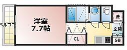 セントレジス新大阪[2階]の間取り