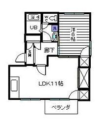 神奈川県相模原市中央区光が丘2丁目の賃貸アパートの間取り