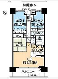 パークホームズ神戸ザレジデンス[12階号室]の間取り