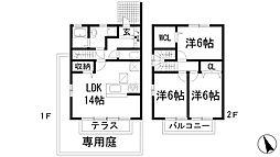 [テラスハウス] 兵庫県西宮市段上町1丁目 の賃貸【/】の間取り