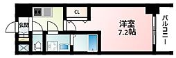 JR東海道・山陽本線 新大阪駅 徒歩12分の賃貸マンション 13階1Kの間取り
