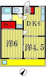 第2中津ビル[4階]の間取り