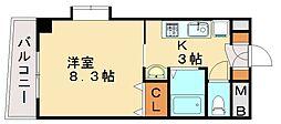 カリタス21[6階]の間取り