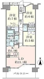 ブリリアシティ横浜磯子[10階]の間取り