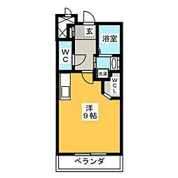サクセション上中野[2階]の間取り
