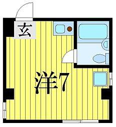 千葉県習志野市本大久保2丁目の賃貸マンションの間取り