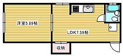 ヒラヤマビル[3階]の間取り