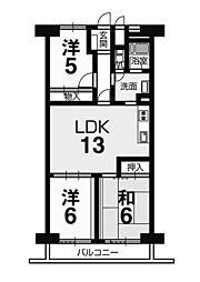 検見川パークハウスA棟 2階