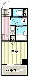 JR山手線 秋葉原駅 徒歩8分の賃貸マンション 6階1Kの間取り