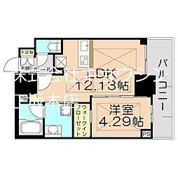 Osaka Metro御堂筋線 江坂駅 徒歩5分の賃貸マンション 13階1LDKの間取り