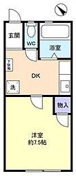 キャッスルマキ2号棟[1階]の間取り