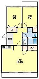愛知県豊田市青木町2丁目の賃貸マンションの間取り