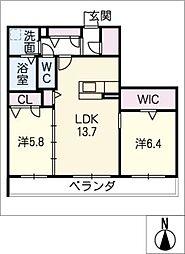 仮)ハートホーム一宮市三ツ井 A棟[3階]の間取り