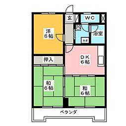 ハイツ塚本[1階]の間取り