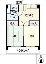 第二五更ビル[5階]の間取り