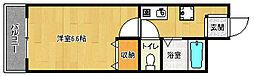 京都府京都市中京区壬生東淵田町の賃貸マンションの間取り