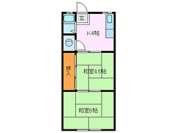 三鈴アパート[2階]の間取り