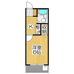 山川ハイツ[301号室]の間取り