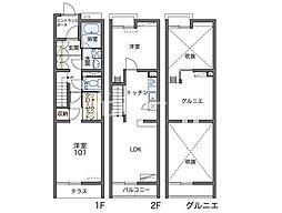 レオパレスコヅチI[1階]の間取り