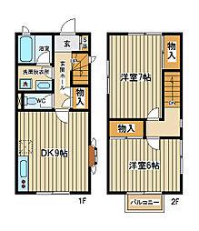 [テラスハウス] 東京都府中市紅葉丘1丁目 の賃貸【/】の間取り