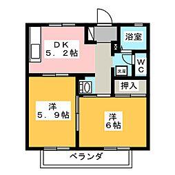 ウッドベル[2階]の間取り