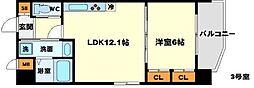 (仮称)プロスパー南吹田 5階1LDKの間取り