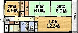 セブンマンション[4階]の間取り