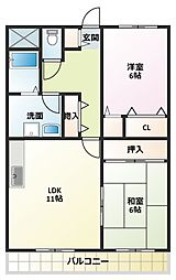 リディアヤマモト壱番館[3階]の間取り