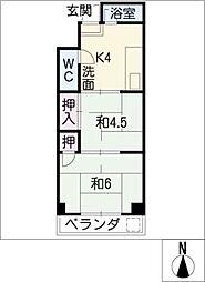 ニューマンション丸由[3階]の間取り
