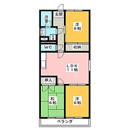 MTGビル (3LDK)[3階]の間取り